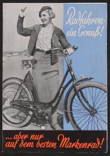 Dürkopp Markenrad Faltblatt 1930er Jahre