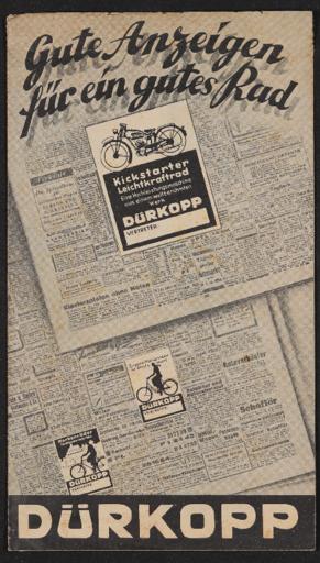 Dürkopp Matern, Prägungen für Händlerwerbung 1930er Jahre