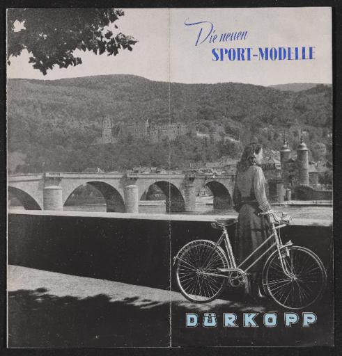 Dürkopp Sport-Modelle Faltblatt 1950er Jahre