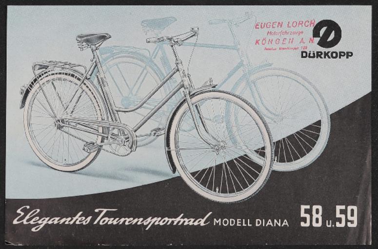 Dürkopp Tourensportrad Werbeblatt 1955