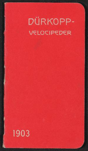 Dürkopp Velocipeder Illustrerad Katalog 1903