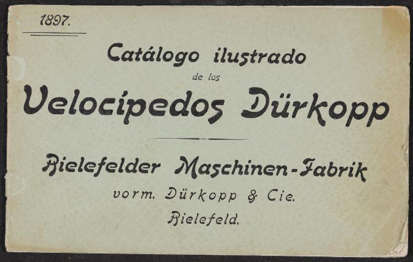 Dürkopp Velocipedos Catalogo 1897