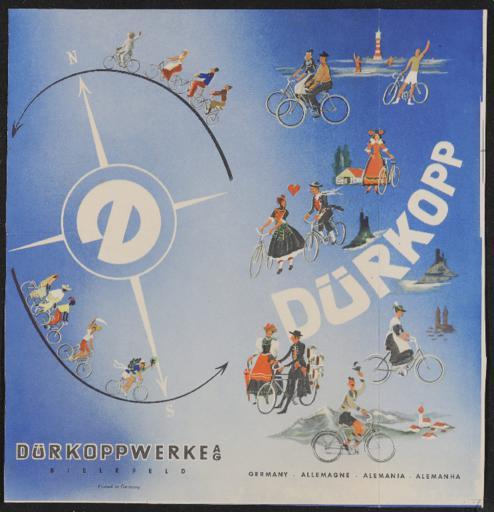 Dürkopp Werbeblatt 1950er Jahre