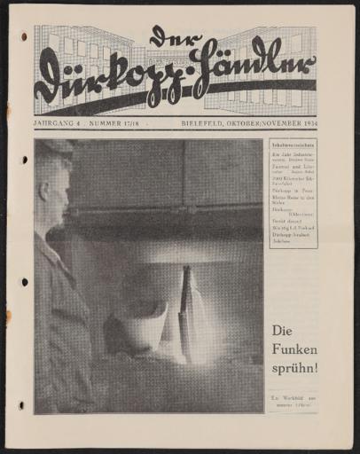 Dürkopp Werkszeitung Nr. 17,18 Okt., Nov. 1934, nicht vollständig