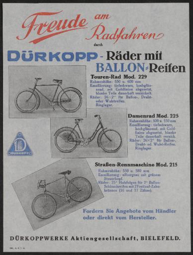 Dürkopp-Räder Werbeblatt 1930