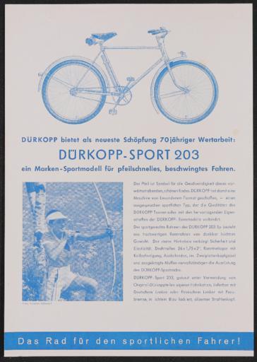 Dürkopp-Sport Werbeblatt 1937