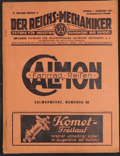 Der Reichsmechaniker Zeitung 1. September 1927