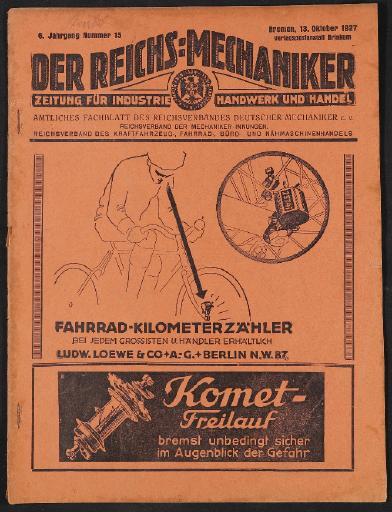 Der Reichsmechaniker Zeitung 13. Oktober 1927