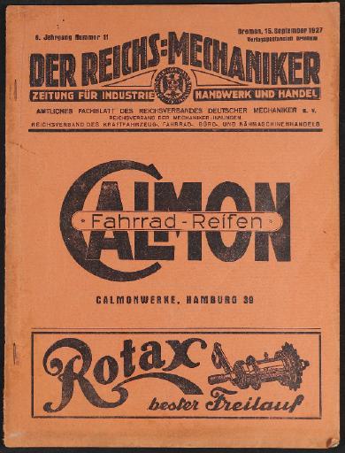 Der Reichsmechaniker Zeitung 15. September 1927