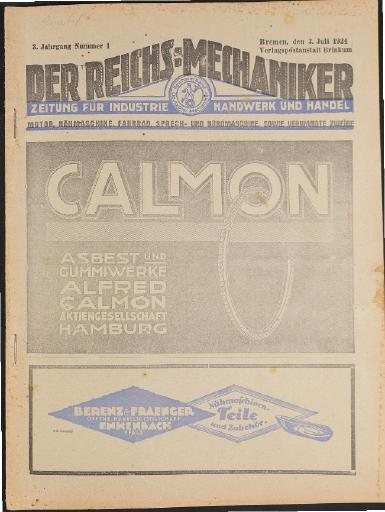 Der Reichsmechaniker Zeitung 3. Juli 1924