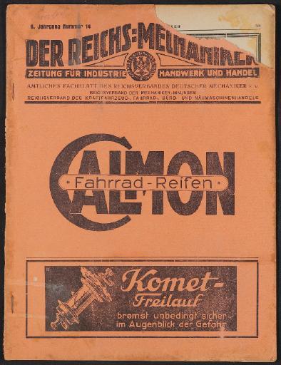 Der Reichsmechaniker Zeitung 6. Oktober 1927