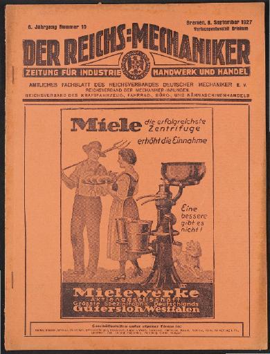 Der Reichsmechaniker Zeitung 8. September 1927
