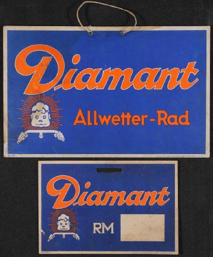 Diamant Allwetter-Rad Preisschilder 30er Jahre