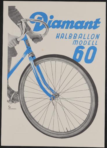 Diamant Elite-Diamantwerke AG Halbballon Modell 60 Werbeblatt 1930er Jahre