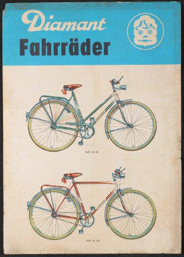 Diamant Fahrräder 35 251 202 Werbeblatt 60er Jahre