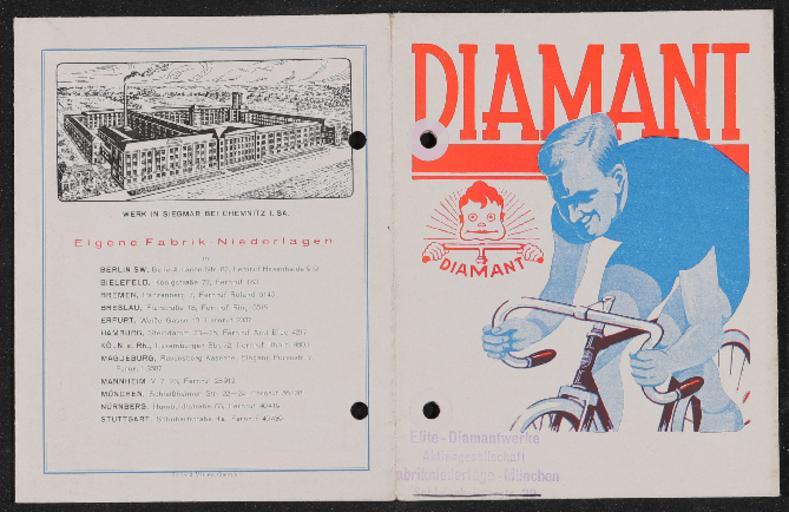 Diamant Faltblatt 1930er Jahre