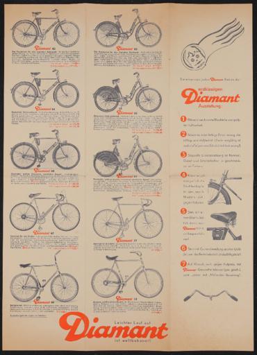 Diamant Faltblatt 1936