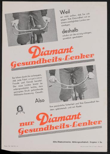 Diamant Gesundheits-Lenker Werbeblatt 1935