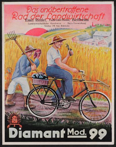 Diamant Mod. 99 Rad der Landwirtschaft (Carl Werner) Werbeblatt 30er Jahre