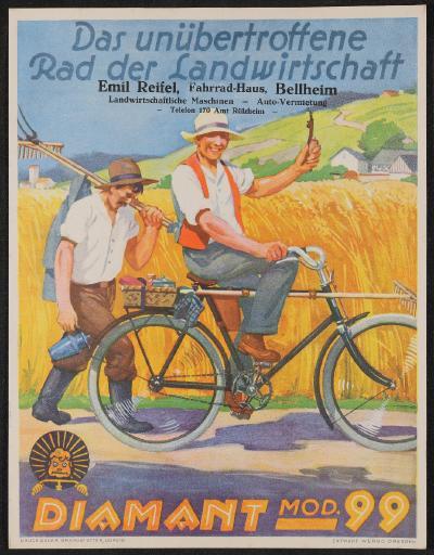 Diamant Mod. 99 Rad der Landwirtschaft (Werbo Dresden) Werbeblatt 30er Jahre