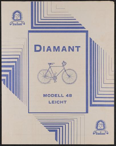 Diamant Modell 48 Leicht Werbeblatt 20er Jahre