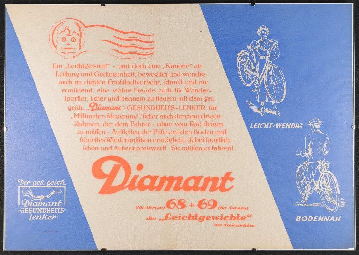 Diamant Modell 68 69 Gesundheitslenker Plakat 1935