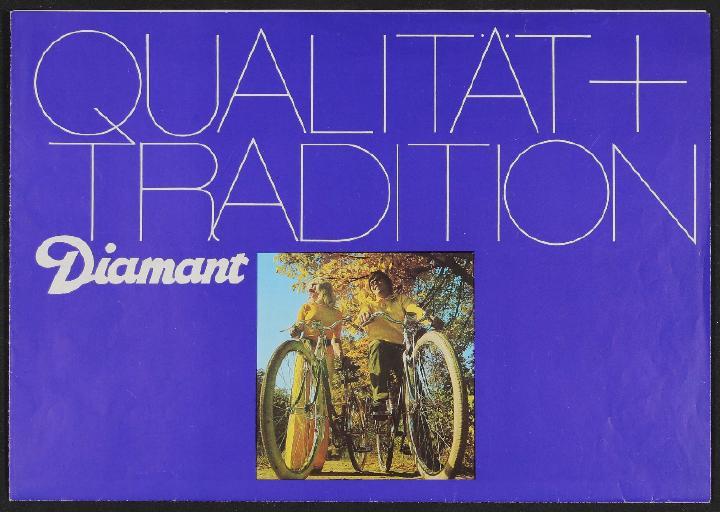 Diamant Qualität plus Tradition Faltblatt 1974