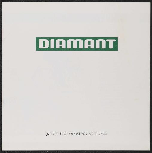 Diamant Qualitätsfahrräder seit 1885 Prospekt Anfang 1990er Jahre