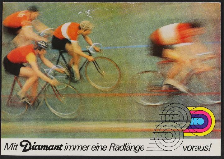 Diamant Rennrad Faltblatt 1974