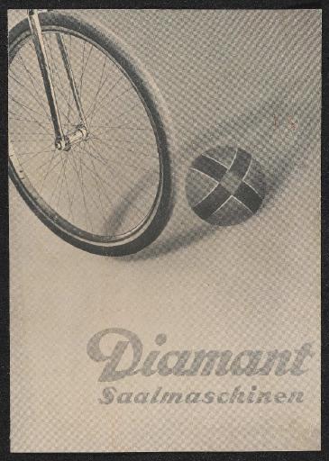 Diamant Saalmaschinen Faltblatt 1935