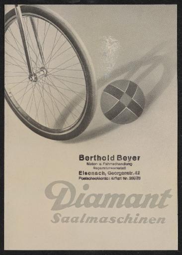 Diamant Saalmaschinen Prospekt 1936