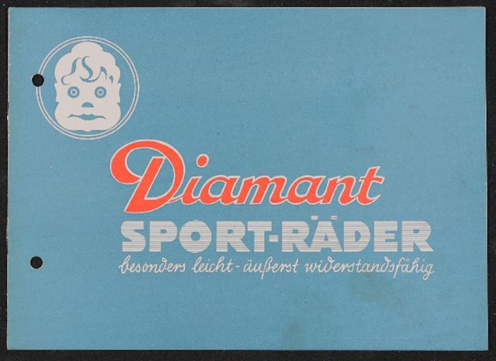 Diamant Sport-Räder Prospekt 1930er Jahre