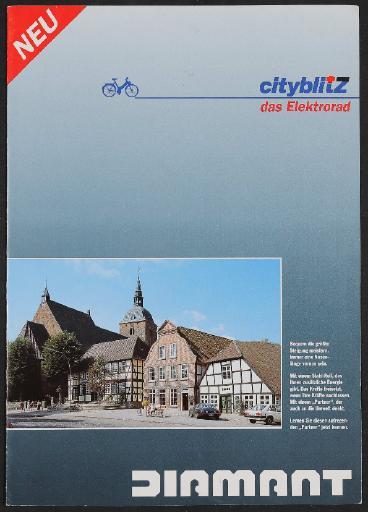 Diamant cityblitZ das Elektrorad Faltblatt um 1992