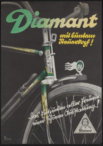 Diamant mit buntem Steuerkopf Werbeblatt 1936