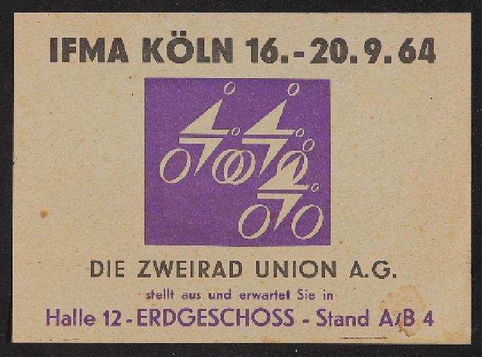 Die Zweirad Union Infoblättchen zur IFMA Köln 1964