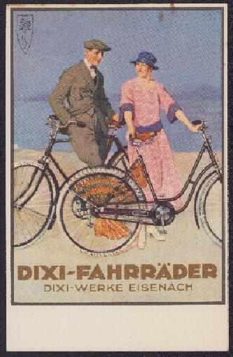 Dixi-Fahrräder Postkarte 1920er Jahre
