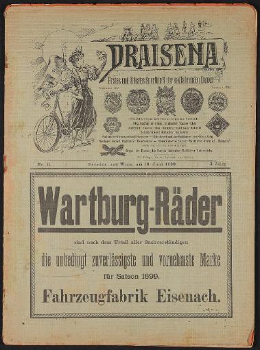 Draisena, erstes u. ältestes Sportblatt der radfahrenden Damen Nr.11, Juni 1899
