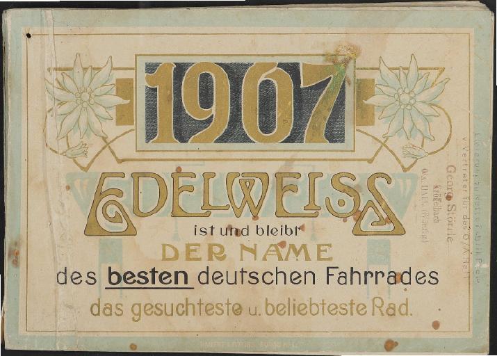 Edelweiss Katalog 1907