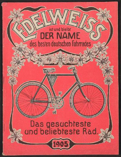 Edelweiss, P. Decker Fahrräderfabrik, Katalog 1905