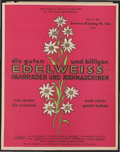 Edelweiss-Decker GmbH, Katalog 1939