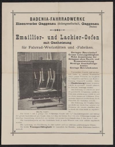 Badenia Emailier und Lackier Öfen 1910er Jahre