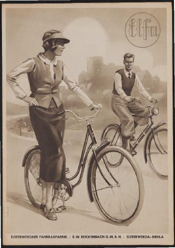 Elsterwerder Fahrradfabrik Elfa Faltblatt 1930er Jahre