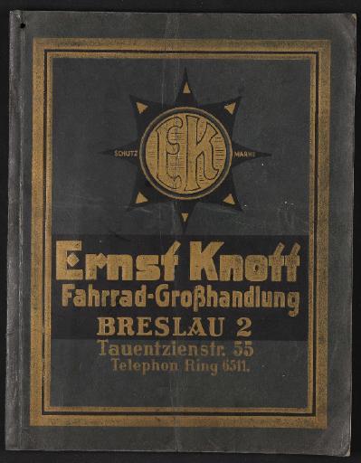 Ernst Knott Fahrrad-Großhandlung 1924-25