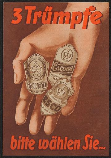 ESWECO Faltblatt Markenfahrräder Preisliste 1930er Jahre