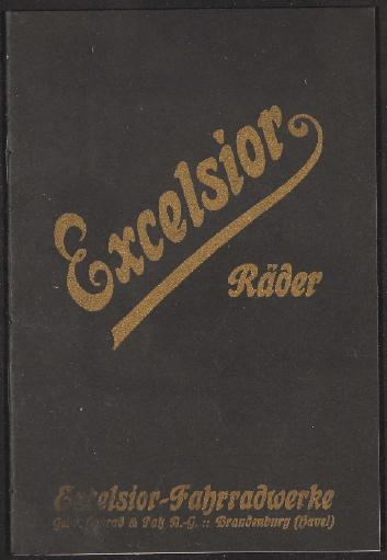 Excelsior Räder Katalog  1920er Jahre