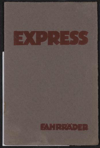 Express Fahrräder Katalog mit Preisliste 1923