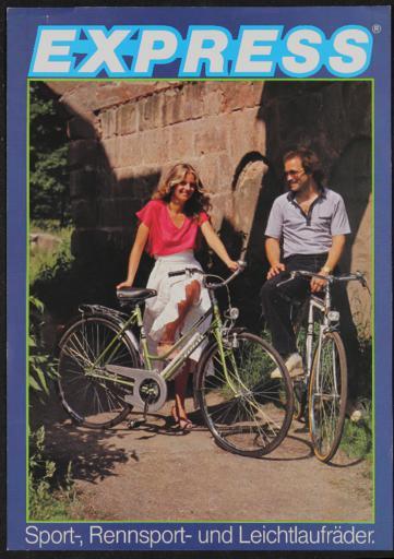 Express Sport-, Rennsport- und Leichtlaufräder Werbeblatt 1970er Jahre