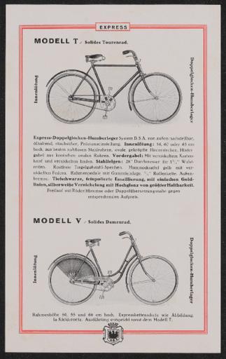 Express Werbeblatt  1920er Jahre