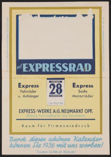 Express Werbematerial 1930er Jahre