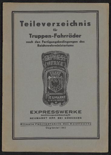 Express Werke Teileverzeichnis  1935